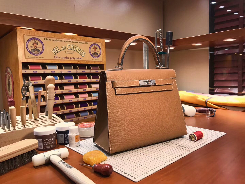 Kelly  28CM 现货系列 配全套专柜原版包装 CK37 金棕色 Gold 金扣