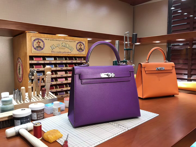 Kelly  28CM 现货系列 配全套专柜原版包装 5L 梦幻紫 极度紫 Ultra Violet