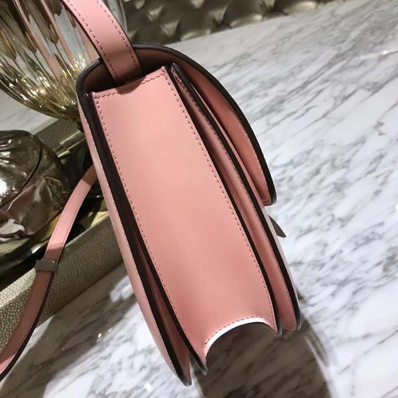 Celine 思琳 boxbag小方包 2018最新颜色 少女粉 中 25cm