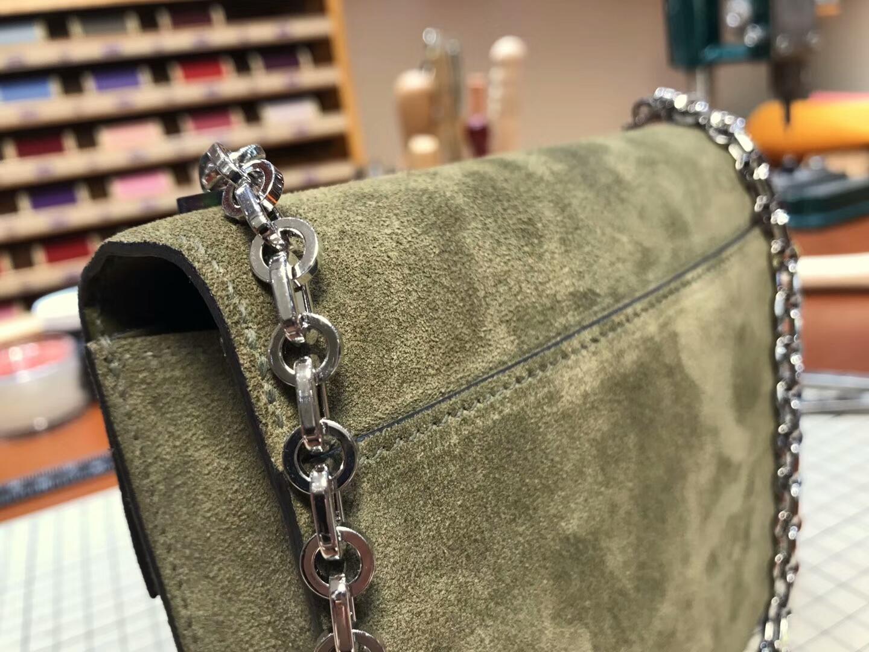 HERMES 爱马仕 手枪包 Verrou Chain 6Hveronese橄榄绿 配全套专柜原版包装
