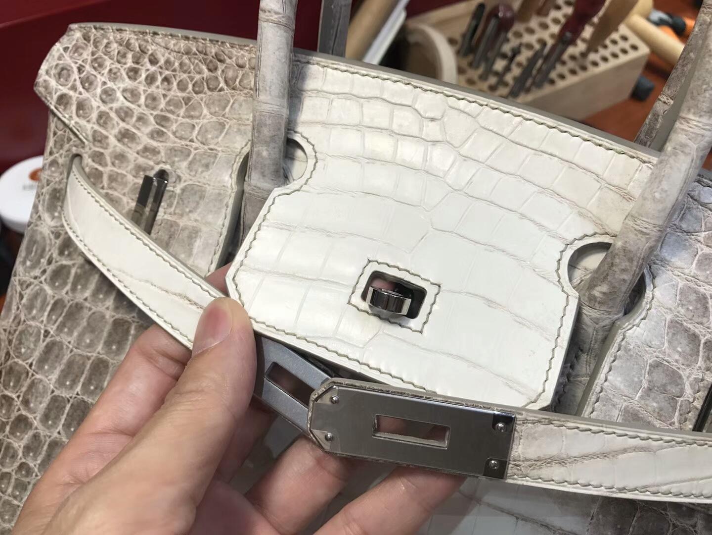 爱马仕 HERMES 铂金包 Birkin 30cm 配全套专柜原版包装 全球发售 鳄鱼喜马拉雅