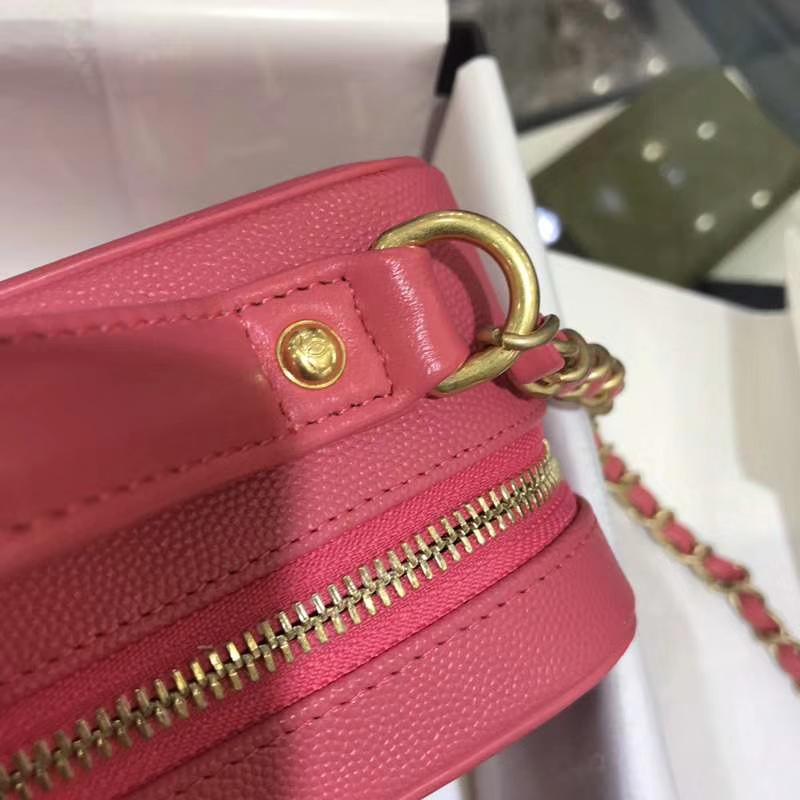Chanel 香奈儿 化妆包 21cm 进口小鱼子酱 西瓜红