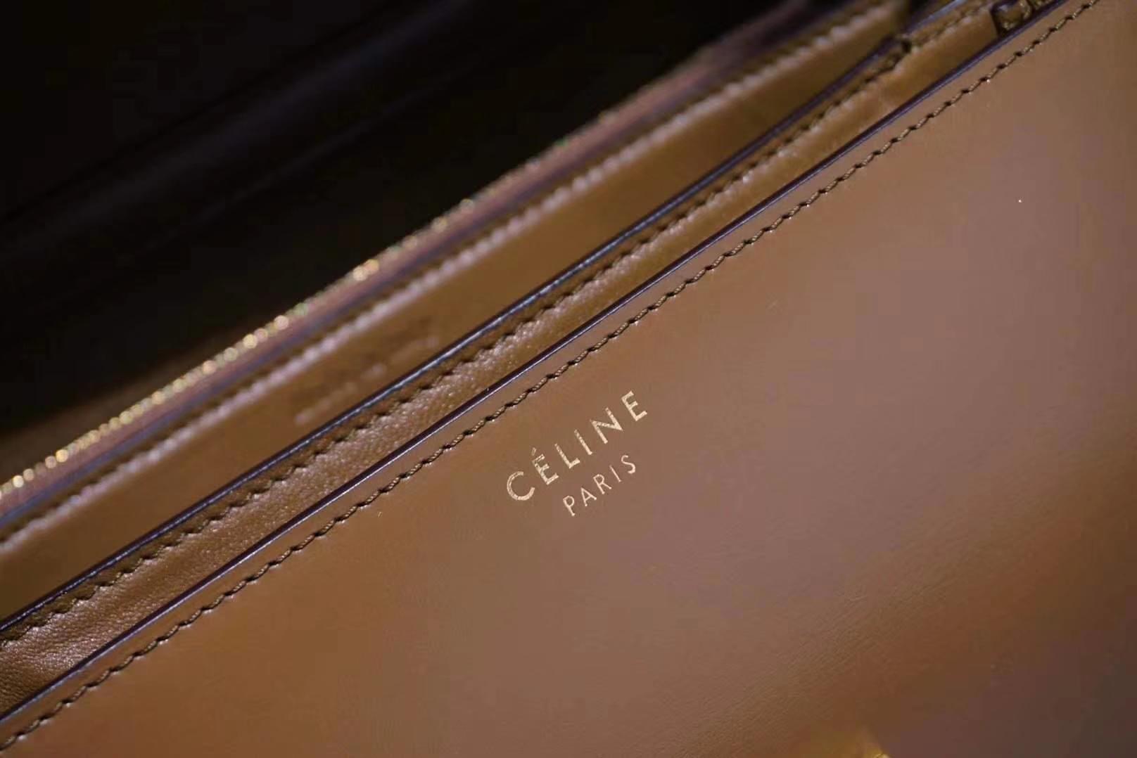 2018款专柜同步 Celine 思琳 box 焦糖色 新版本