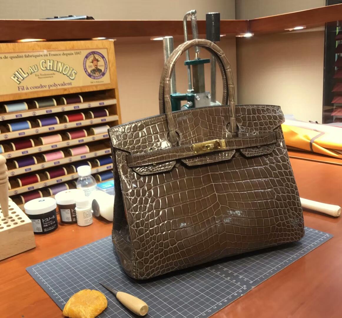 爱马仕 HERMES 铂金包 Birkin 配全套专柜原版包装 全球发售 6C Cuiuvr 古铜色