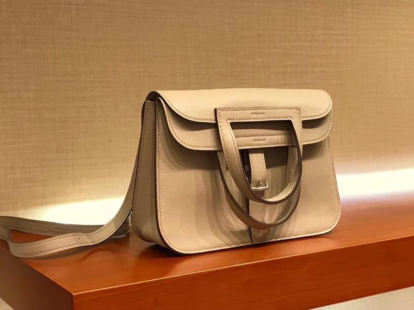 Hermes 爱马仕 Halzan swift 风衣灰 银扣 配全套专柜原版包装