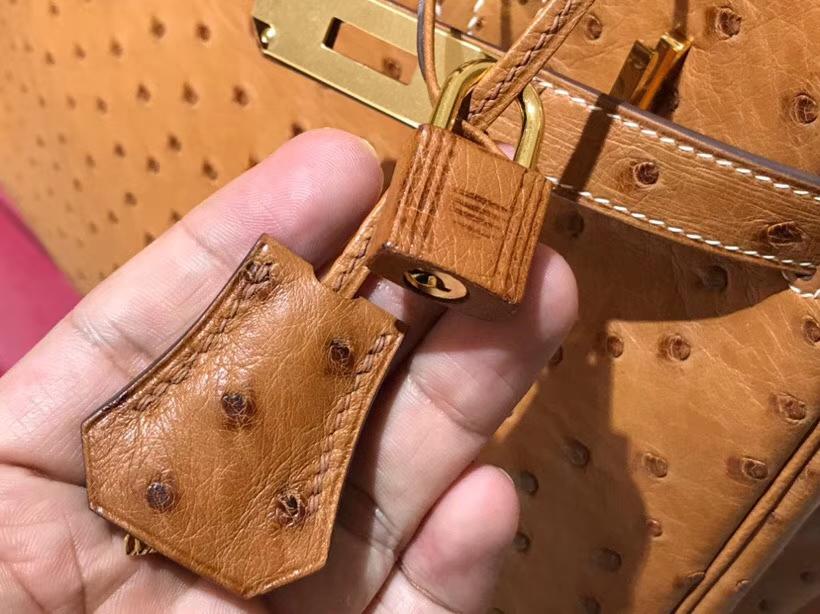 铂金包 Birkin 30cm 金棕色 C47 金银扣都可以定制 配全套专柜原版包装