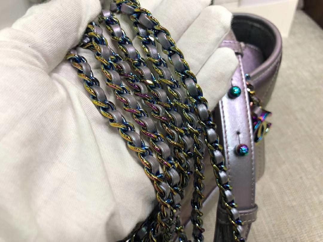 Chanel 香奈儿 原单流浪包幻彩紫重磅 五金重量一致 不掉色 皮质手感一致