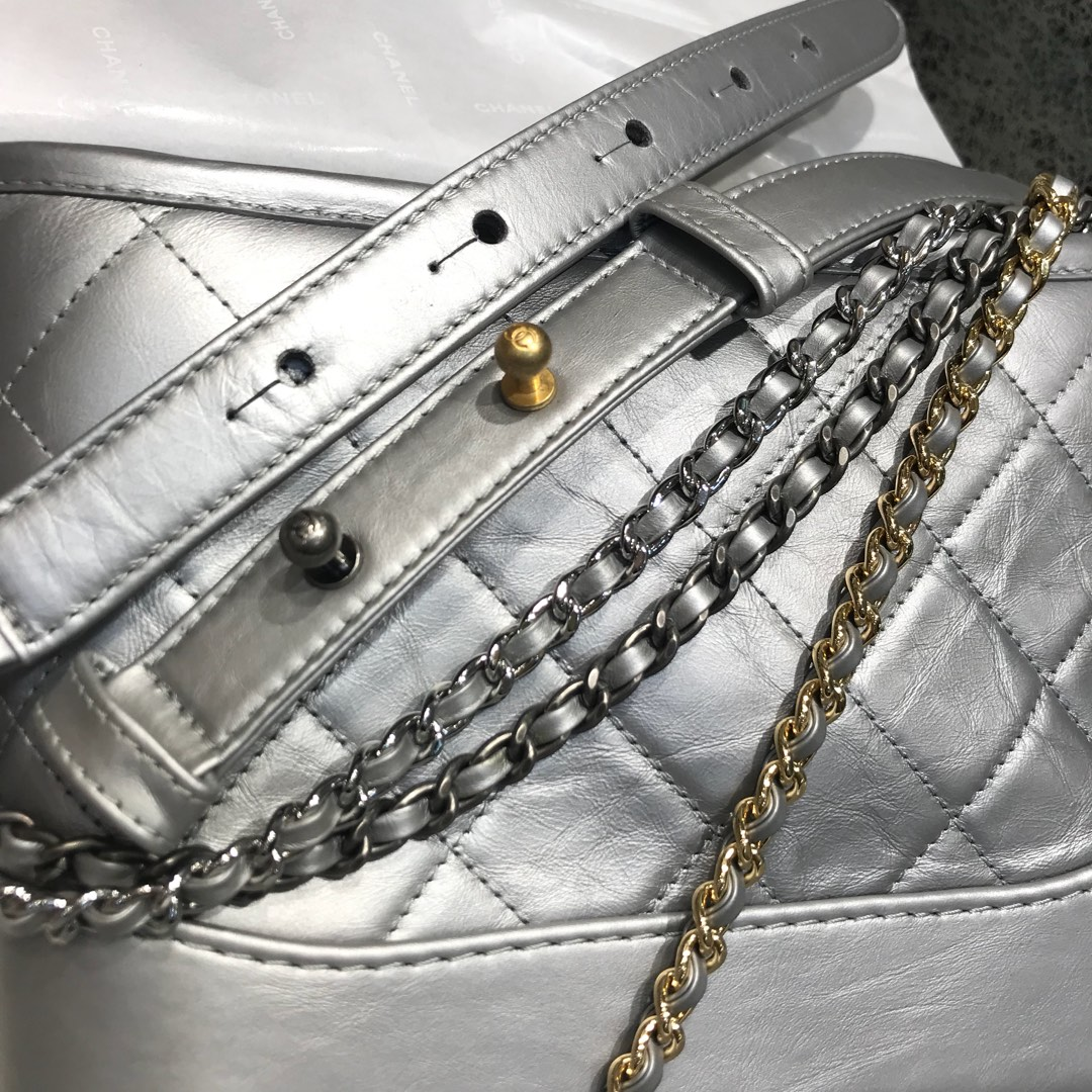 Gabrielle 顶级代购版本 20cm 原厂树膏皮 银色 特殊渠道原厂皮