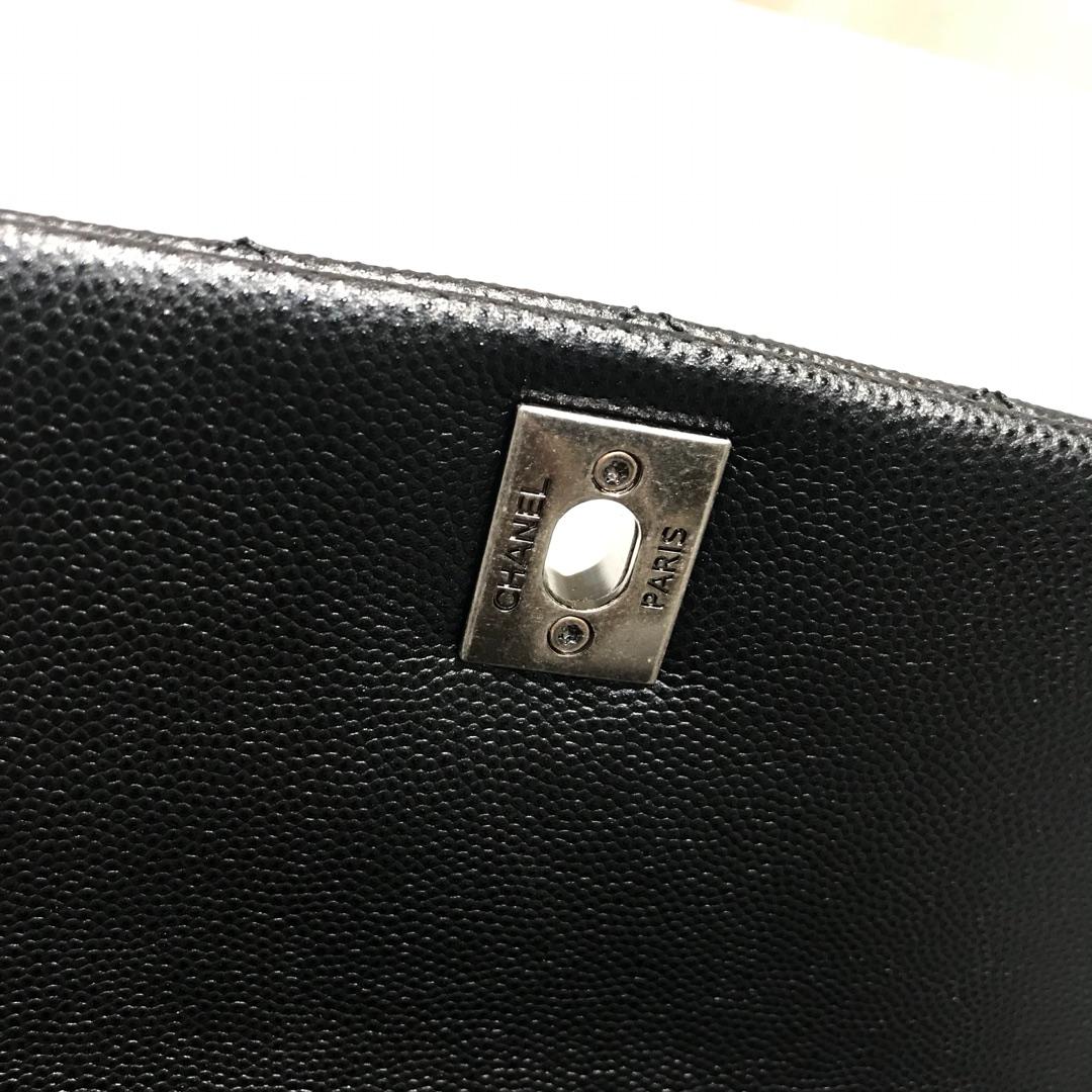 CoCo Handle 顶级代购版 23cm 原厂小牛皮 球纹手柄 黑色 古银