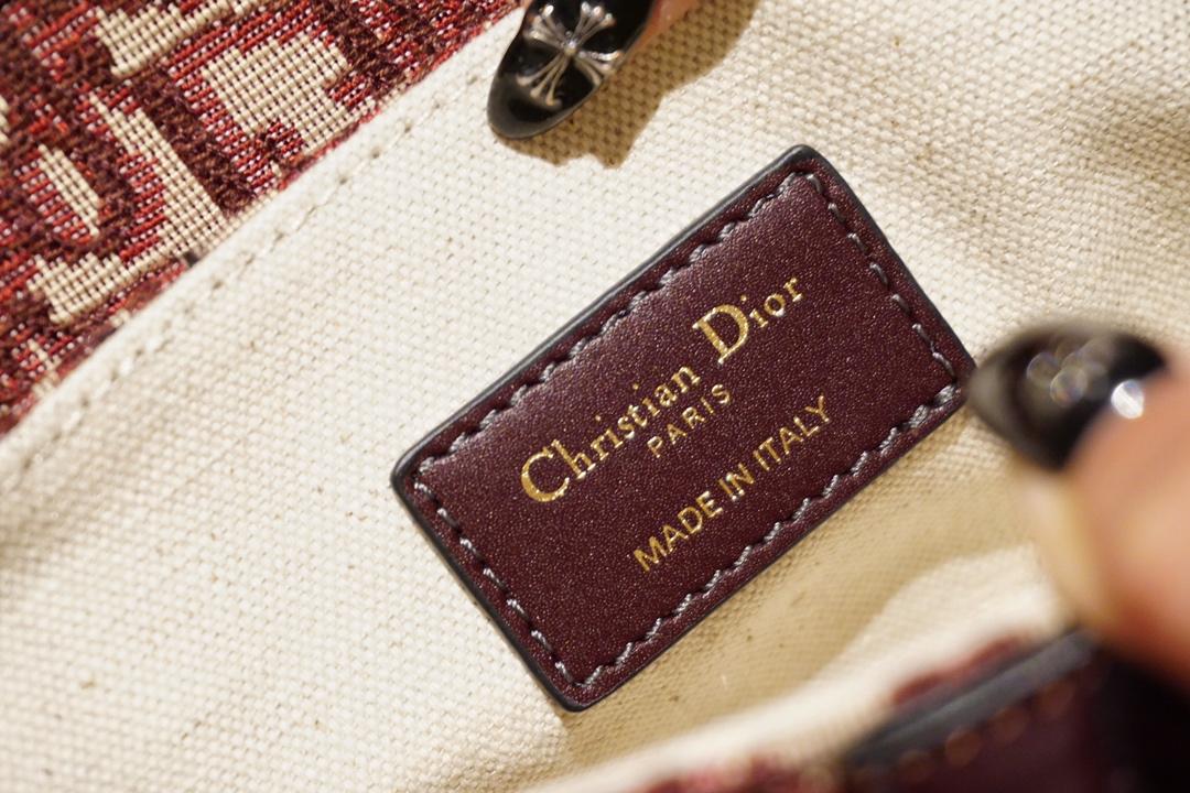 Dior 迪奥 马鞍包 老花布纹 大小号现货 肩带另购