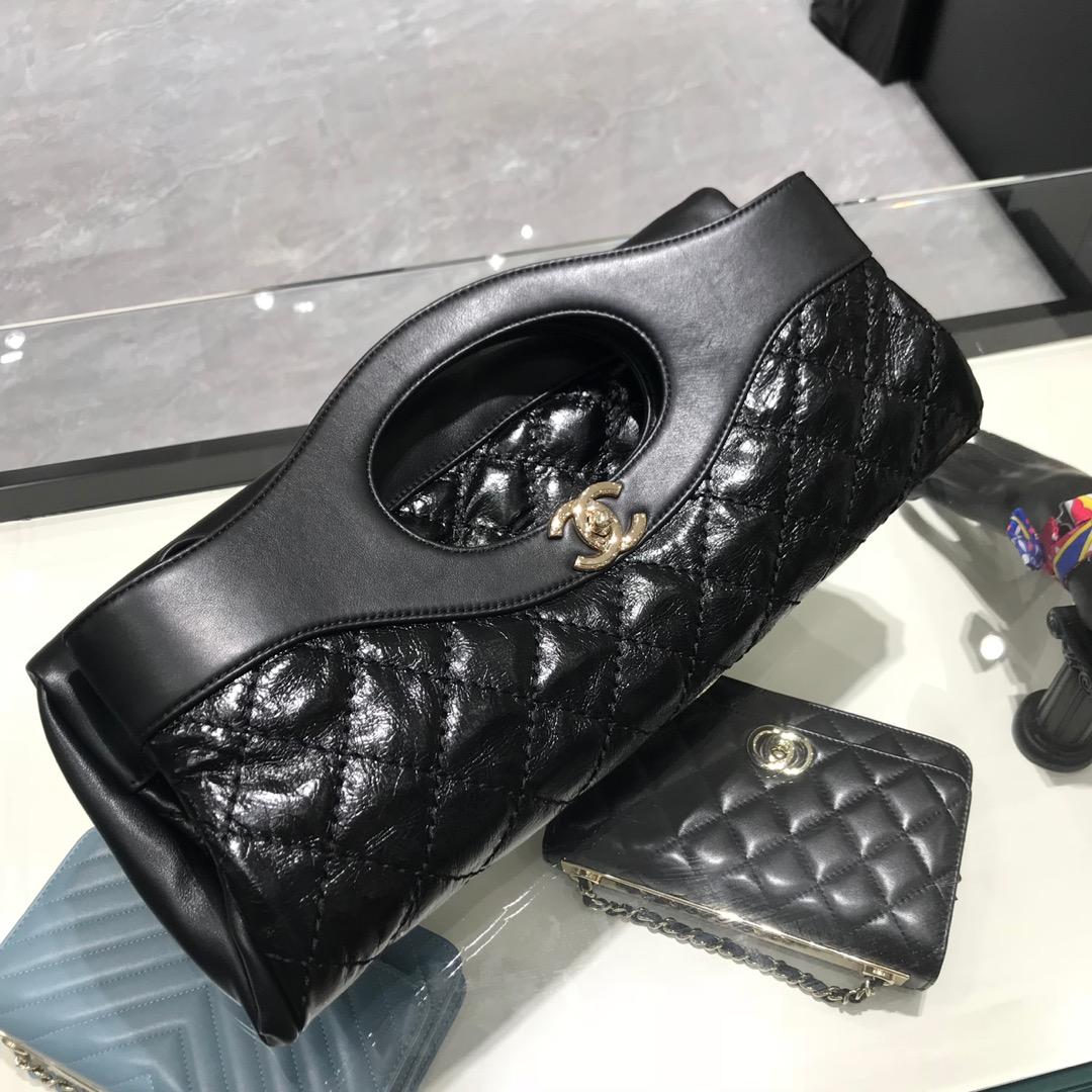 Chanel 香奈儿 31手提袋 顶级代购版本 原厂小羊皮 黑色