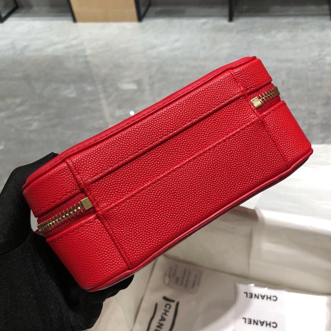 Chanel 香奈儿 化妆包 17cm 大红色