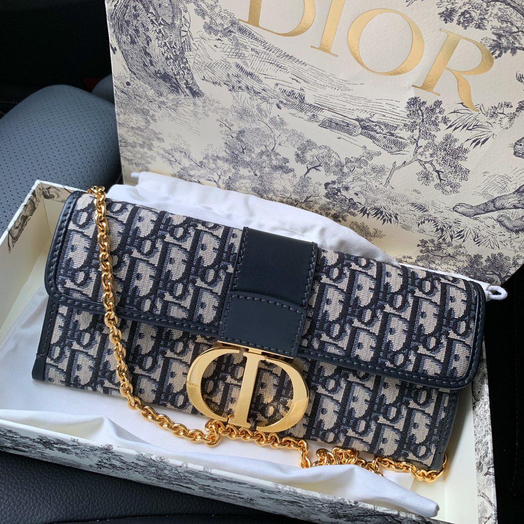 Dior 迪奥 气质十足 蒙田老花帆布手包 链条包