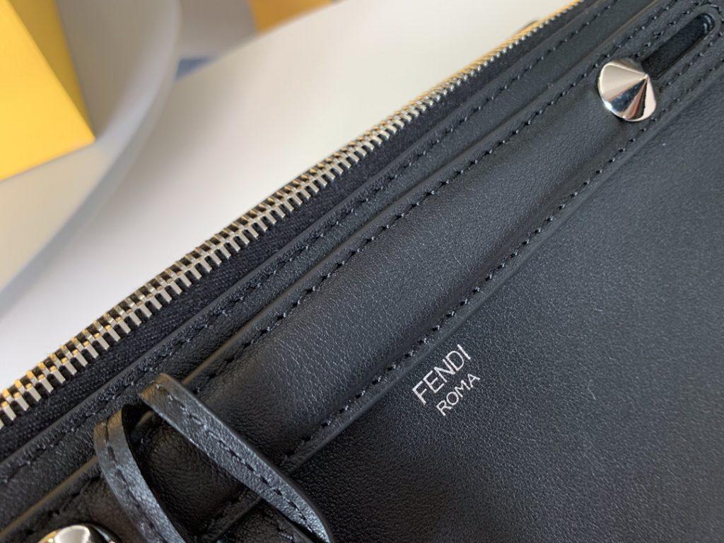FENDI By the way手袋 双手柄 肩带可调节 做工细腻  黑色 28cm 6650